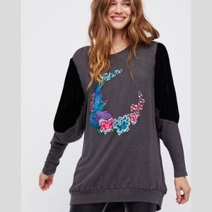 [Free People] Night Bird Tunic Sweater Size Small